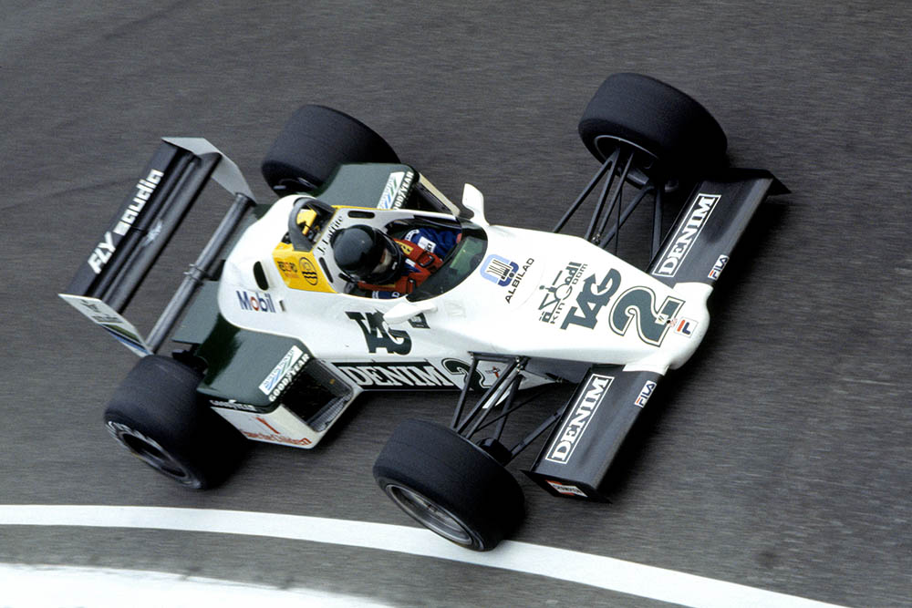 Jacques Laffite in his Williams FW08C-Ford Cosworth.