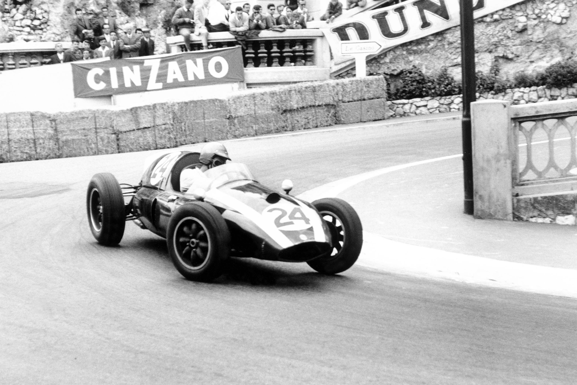 Jack Brabham driving his Cooper T51-Climax.