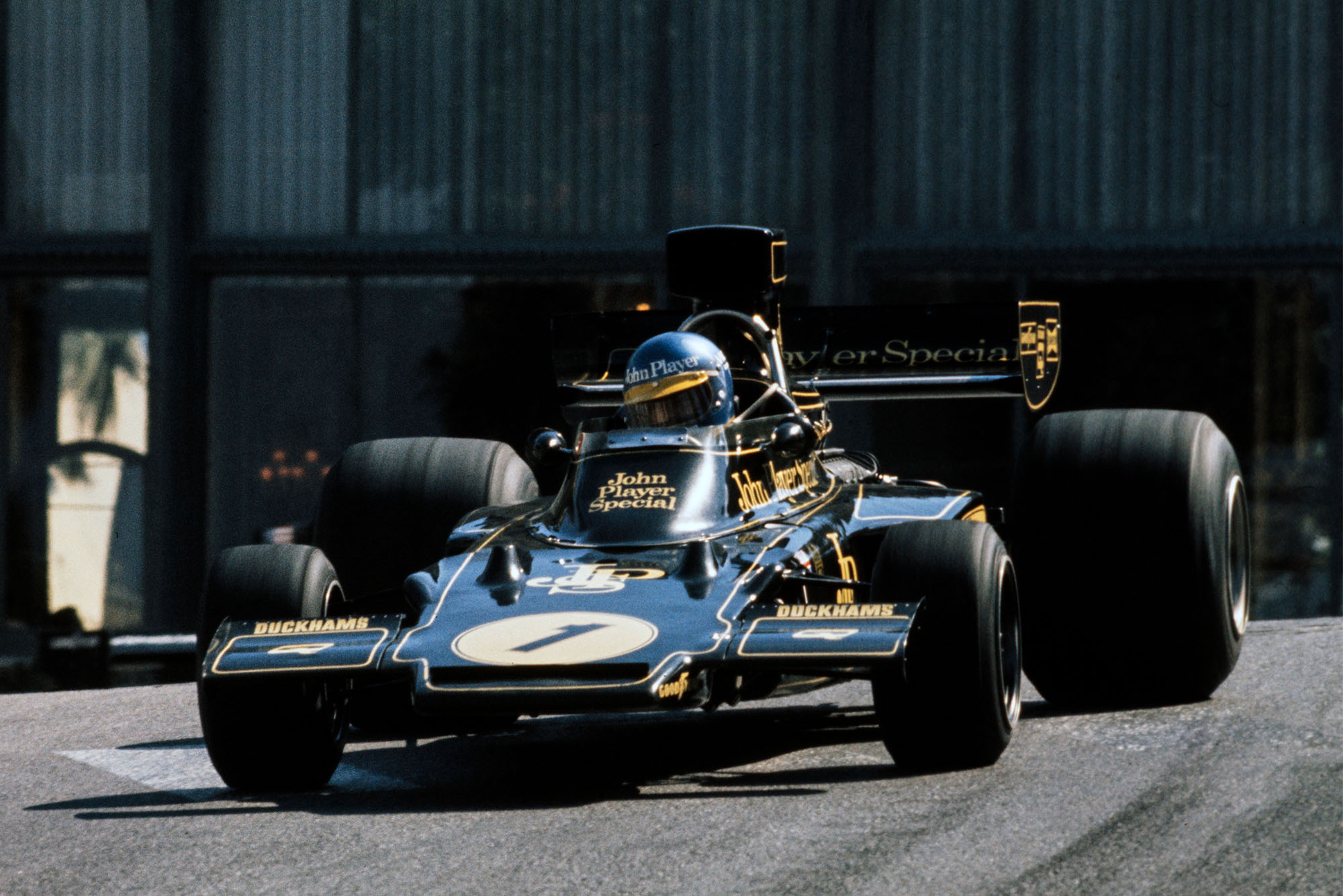 Ronnie Peterson (Lotus) during the 1974 Monaco Grand Prix