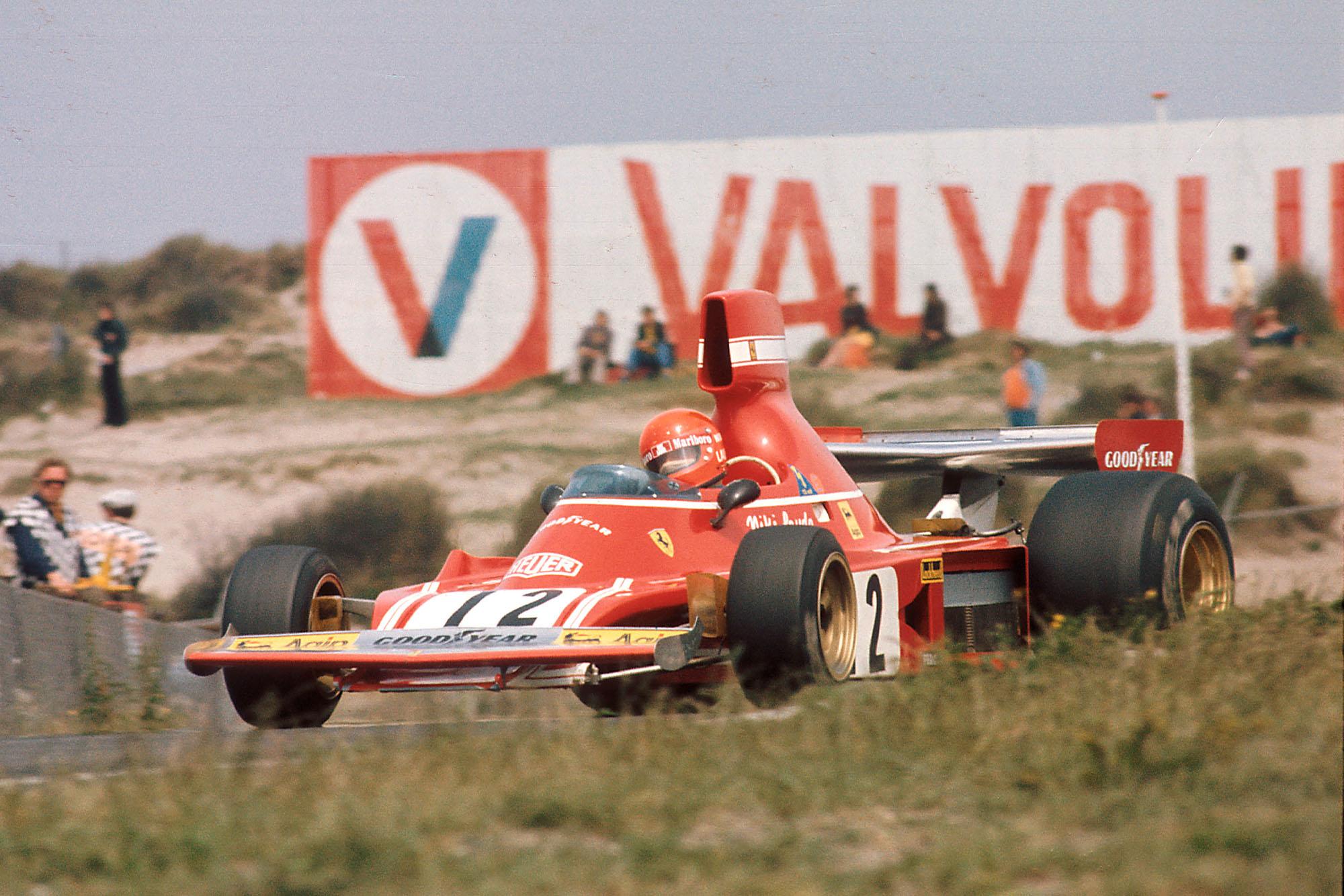 Niki Lauda (Ferrari) on his way to victory at the 1974 Dutch Grand Prix.