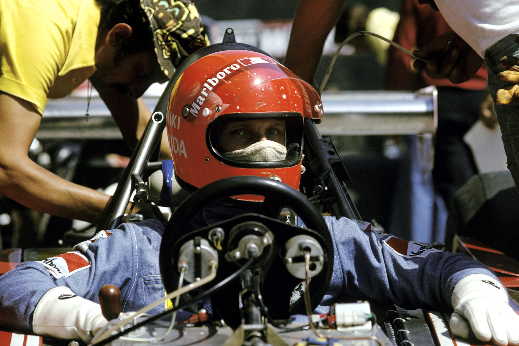 Niki Laudasits in his Ferrari at the 1974 Austrian Grand Prix.