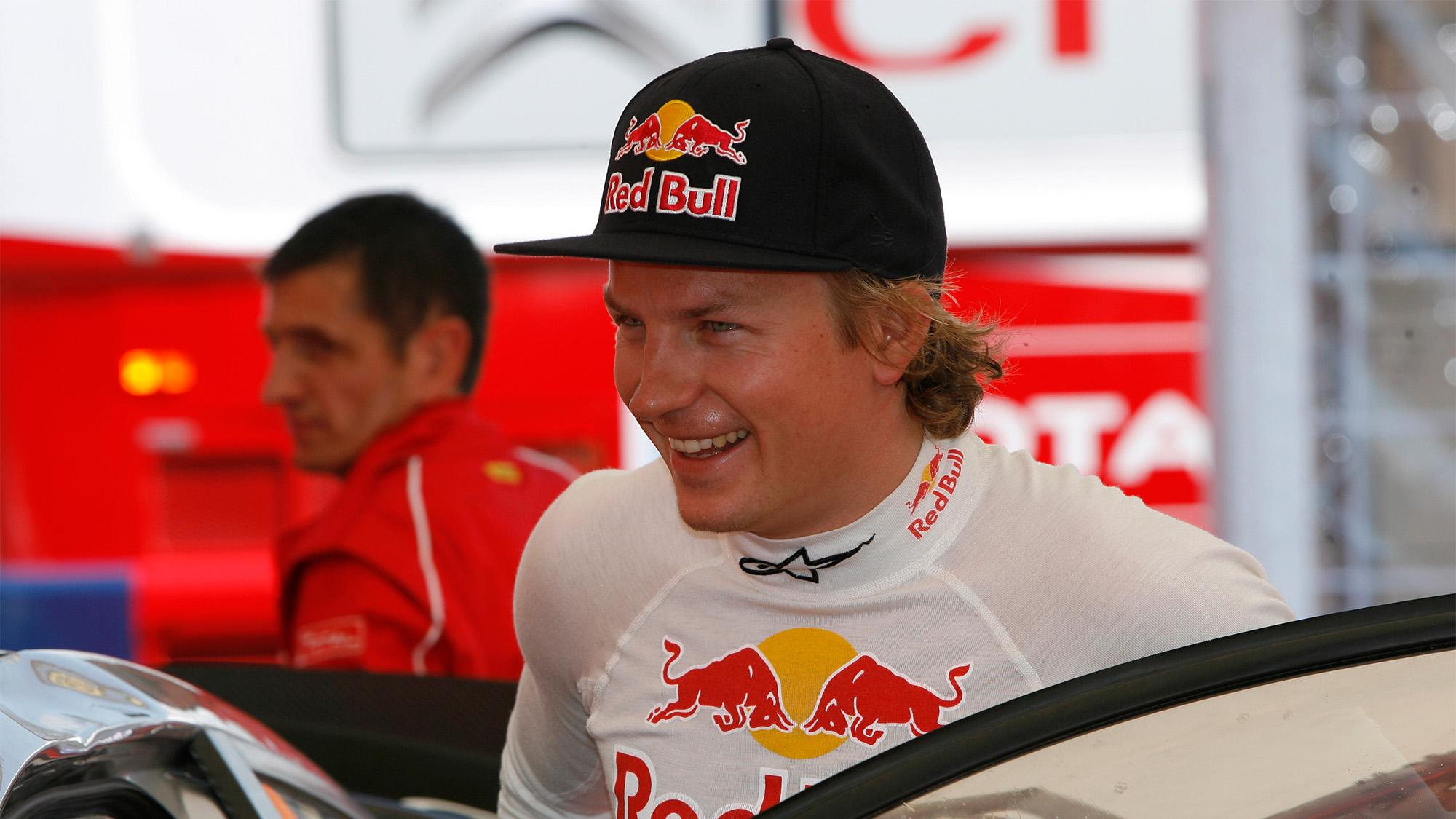 Kimi Raikkonen smiling during the 2010 WRC season