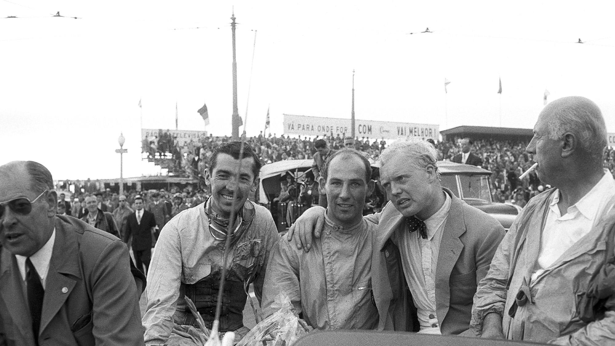 Stuart Lewis Evans, Stirling Moss, Mike Hawthorn, 1958 Grand Prix of Portugal, Boavista