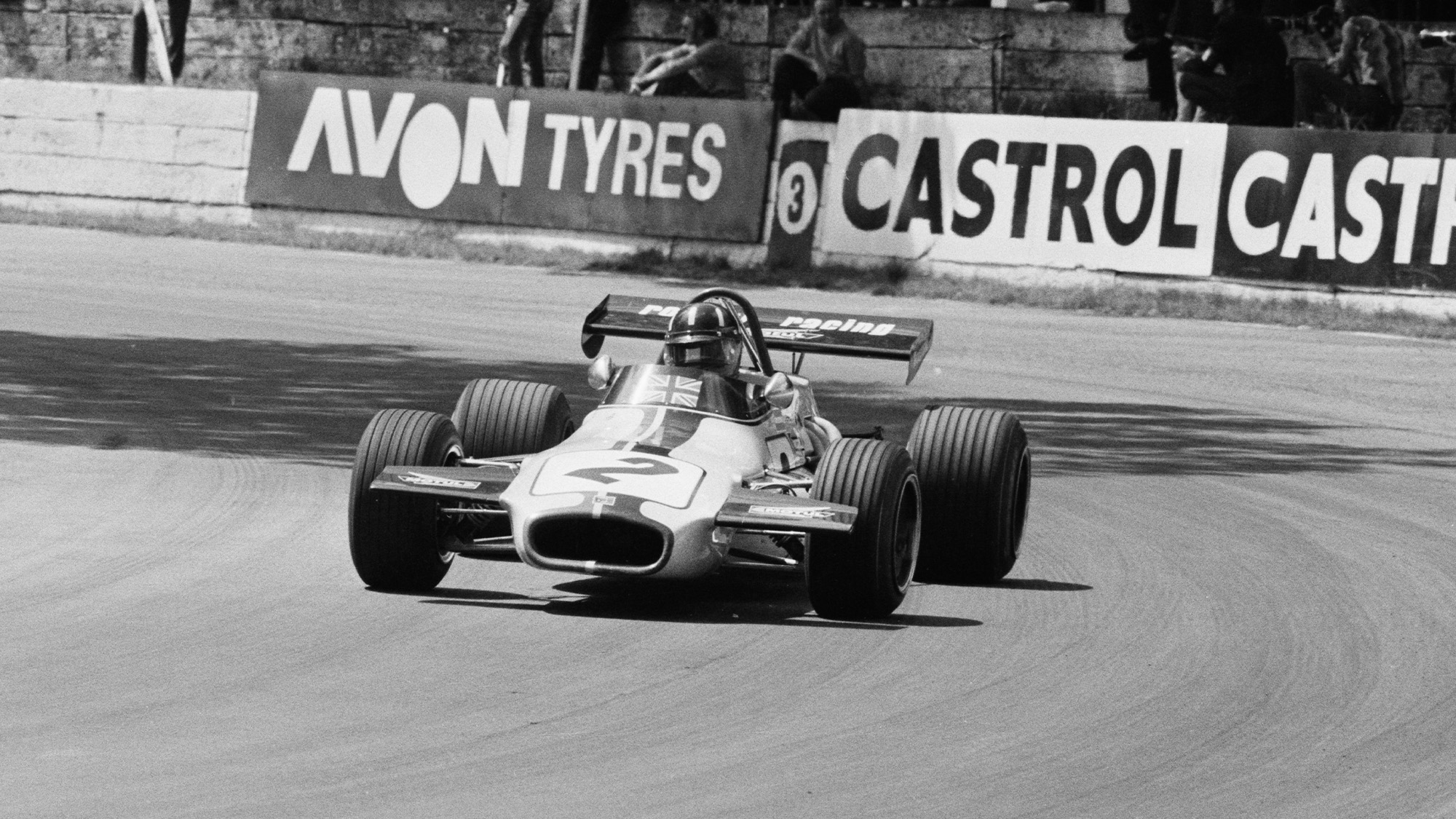 Graham Hill with Rondel Racing car races at Crystal Palace in 1971