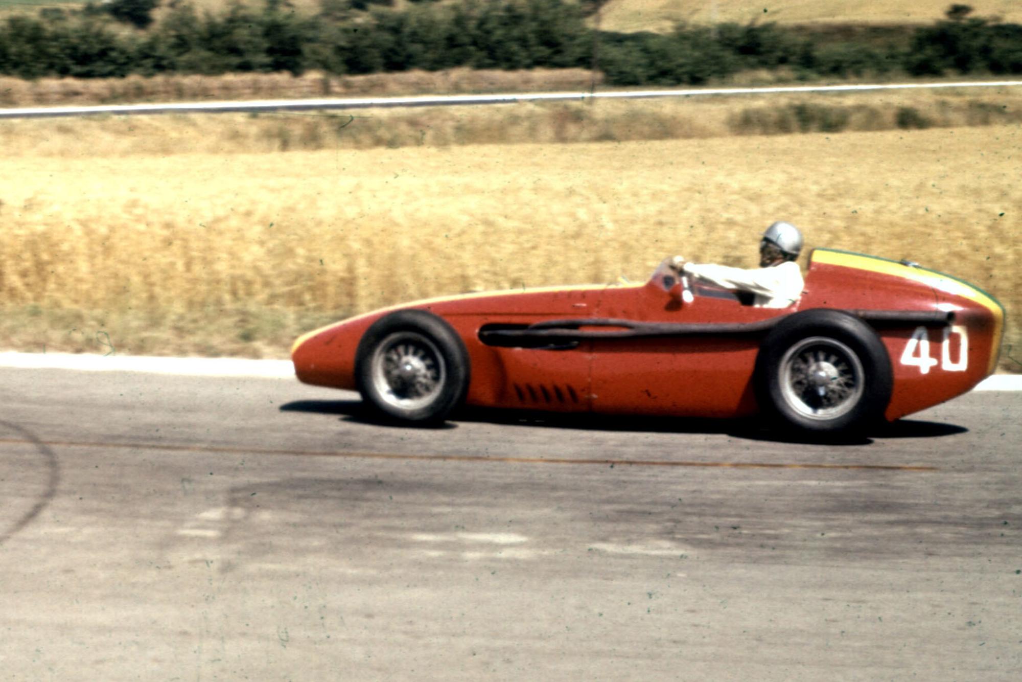 Giorgio Scarlatti driving a Maserati 250F.