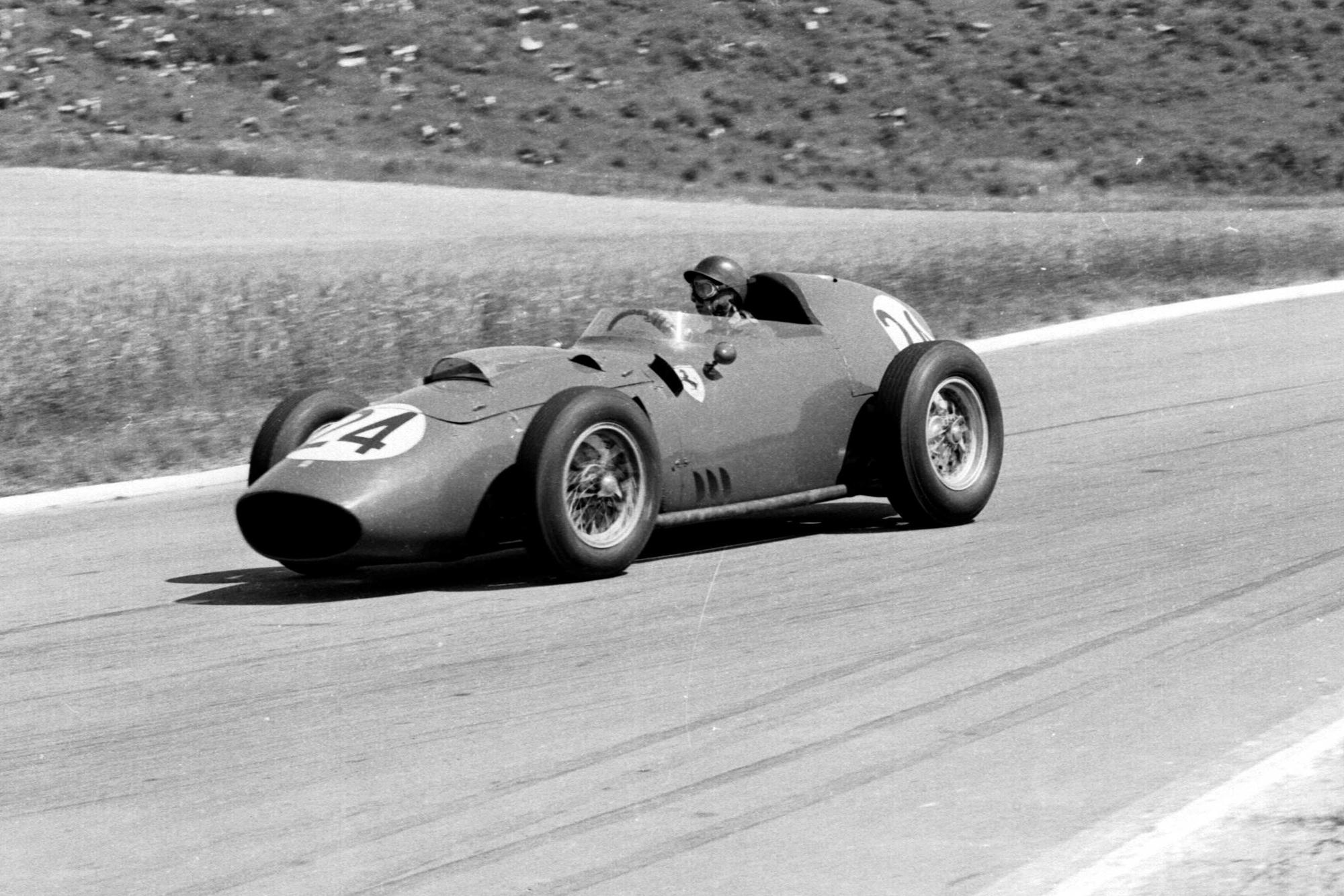 Tony Brooks in his Ferrari Dino 246.