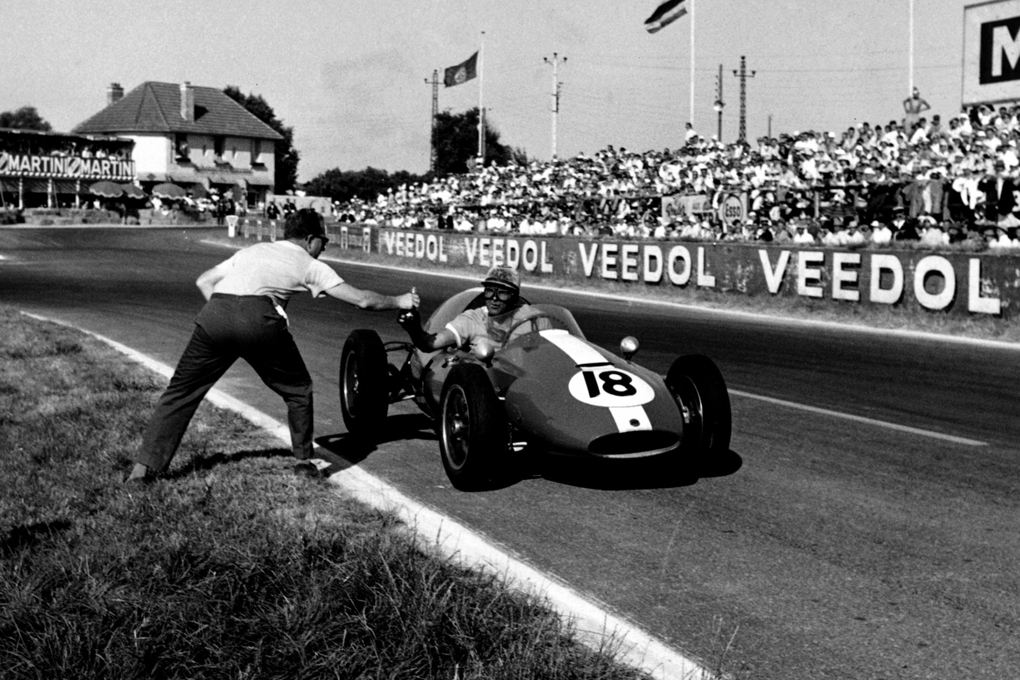 Ian Burgess stops for a drink during an incredibly hot race.