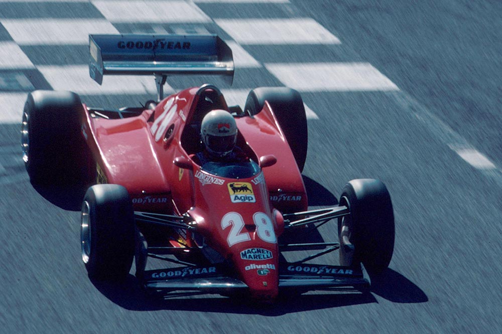 Rene Arnoux in his Ferrari 126C2B.