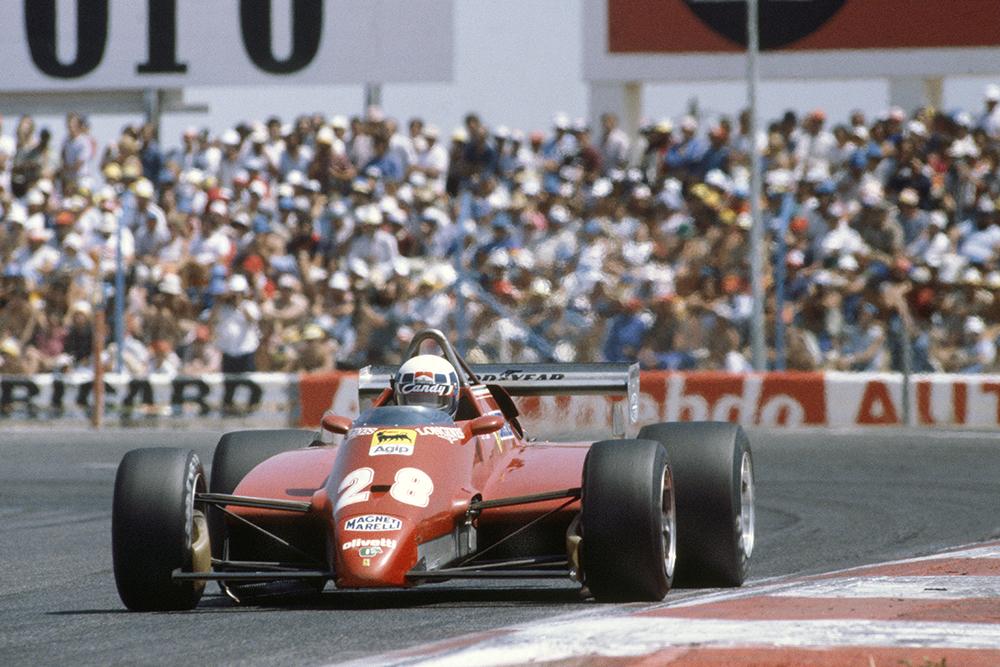 Didier Pironi took his Ferrari 126C2 to 3rd position.