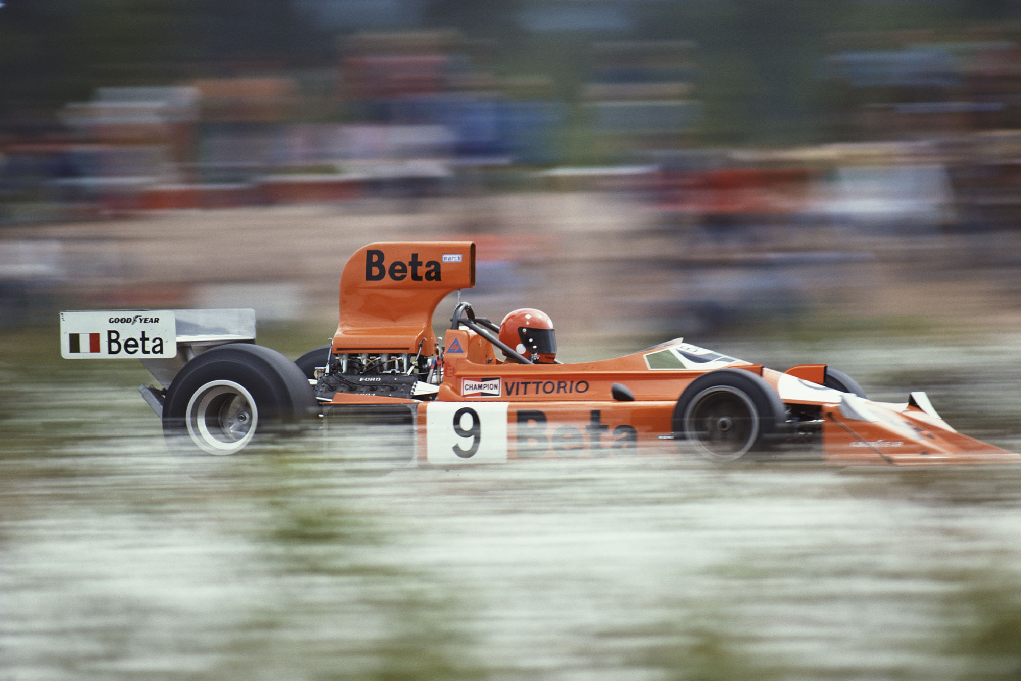 Vittorio Brambilla in his March at the 1975 Swedish Grand Prix.