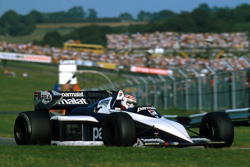 Nelson Piquet driving a Brabham BT52B to a win.
