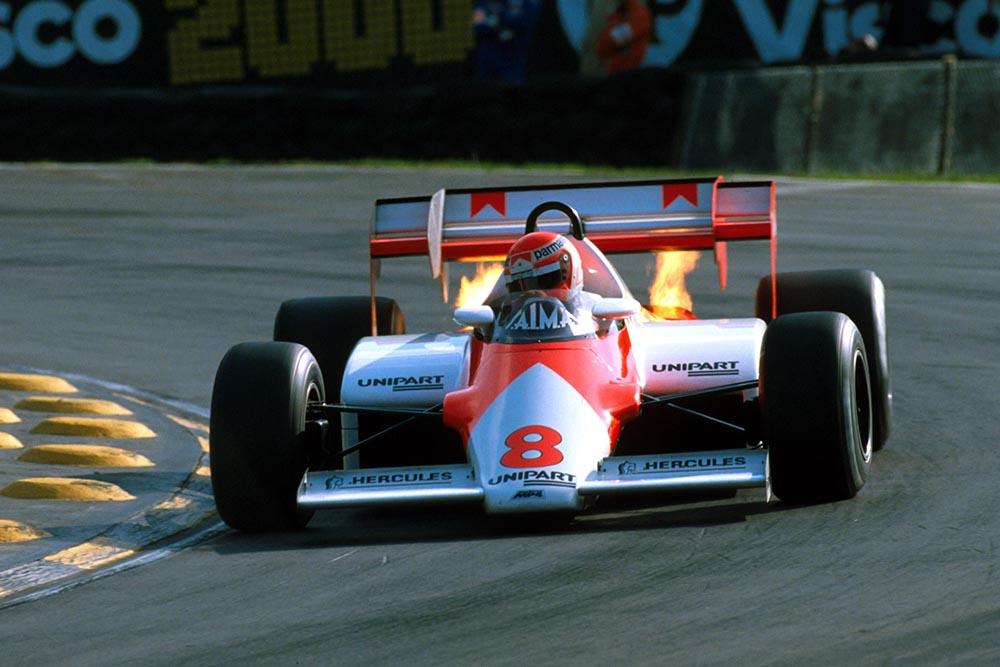 Niki Lauda in a Mclaren MP4-1E.
