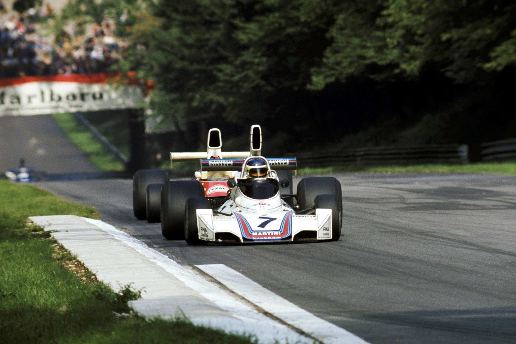 Carlos Reutemann competing for Brabham at the 1975 Italian Grand Prix.