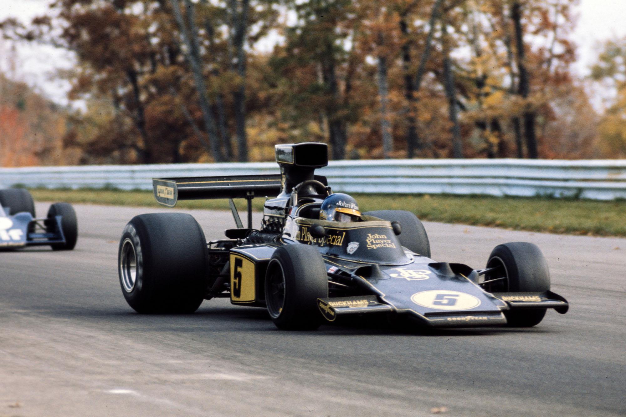 Ronnie Peterson (Lotus) at the 1975 United States Grad Prix, Watkins Glen