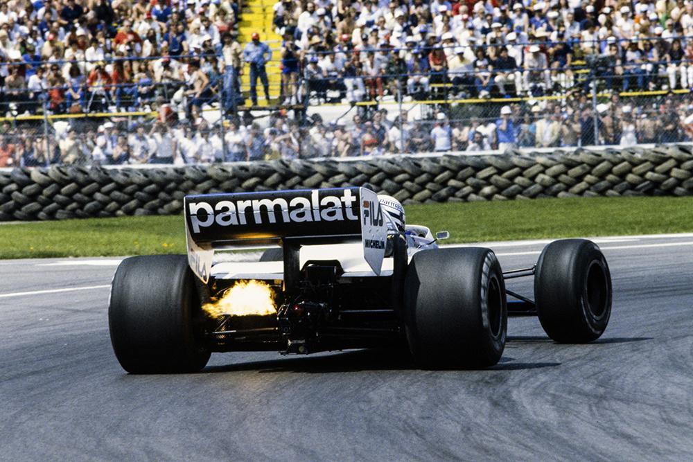 Riccardo Patrese, in a Brabham BT52 BMW.