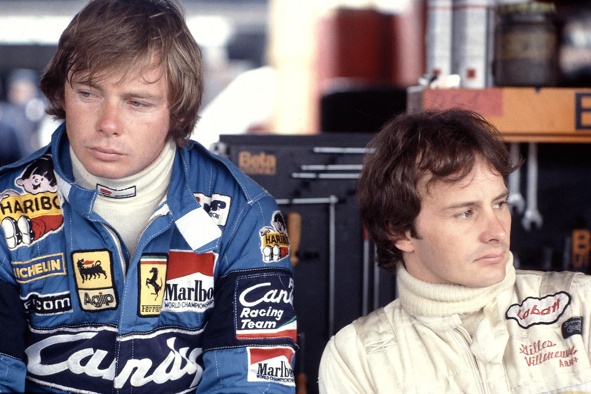 Didier Pironi next to Gilles Villeneuve in 1981