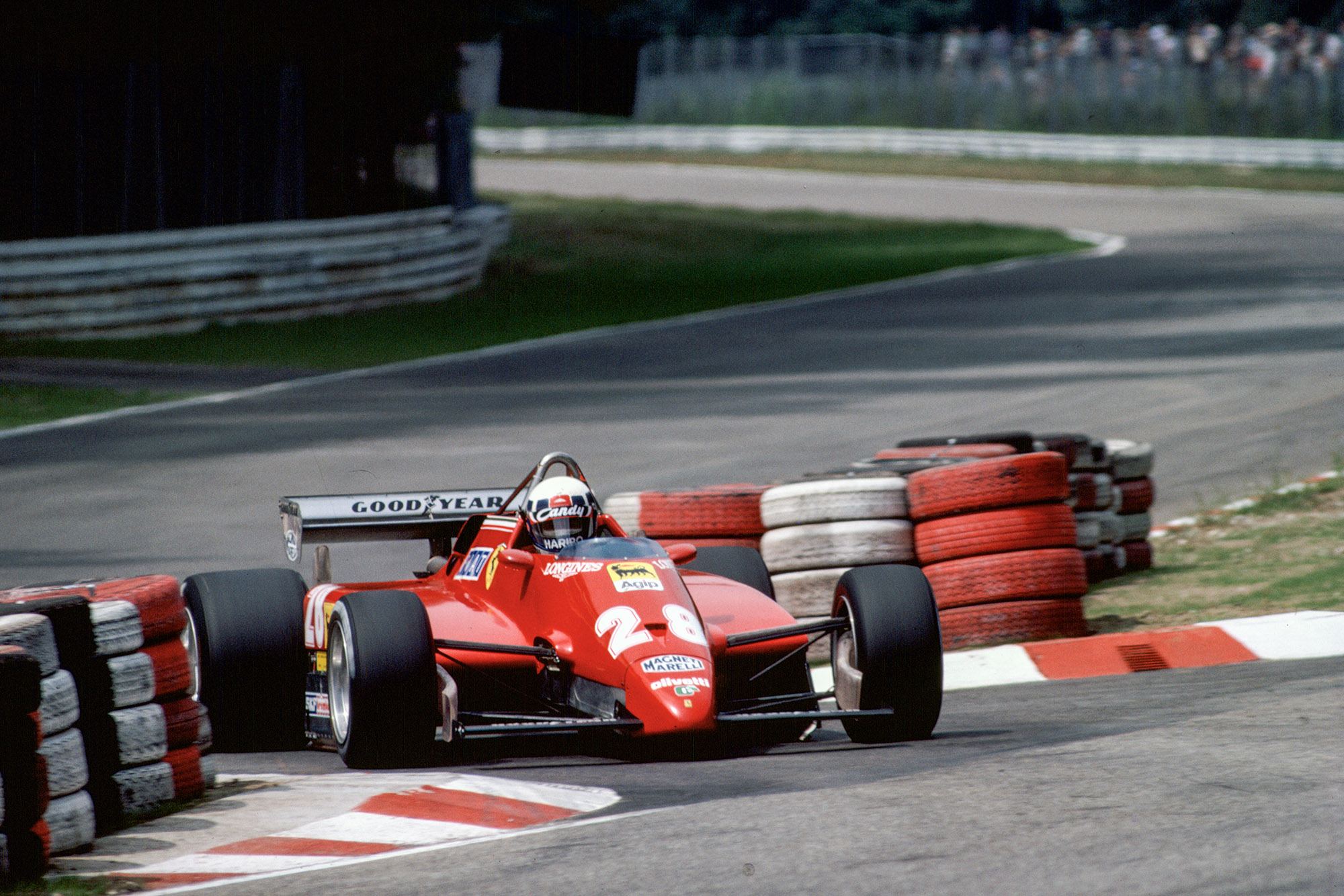 Dider Pironi exits the chicane during the 1982 German Grand Prix