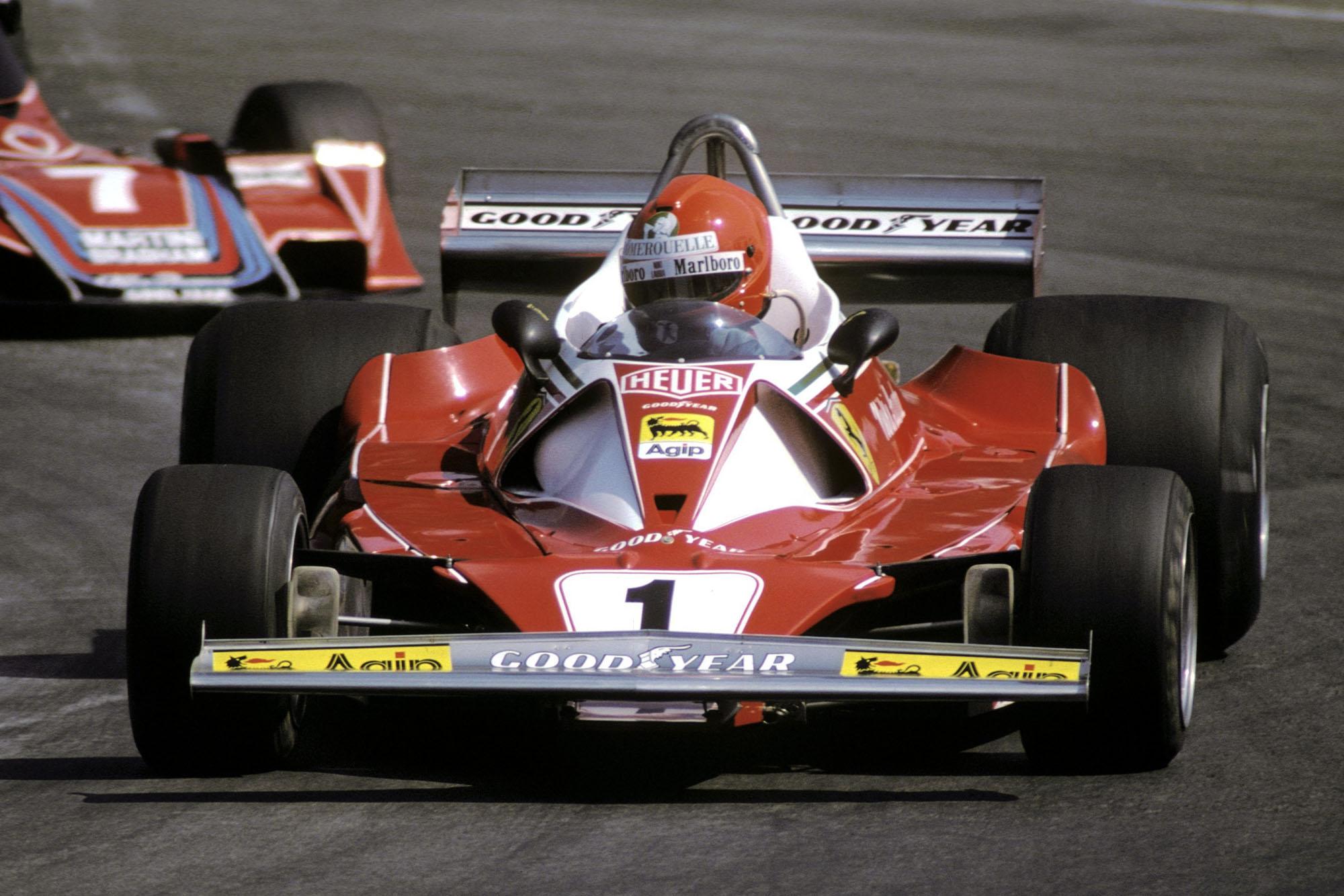 Niki Lauda (Ferrari), 1976 Belgian Grand Prix, Zolder.