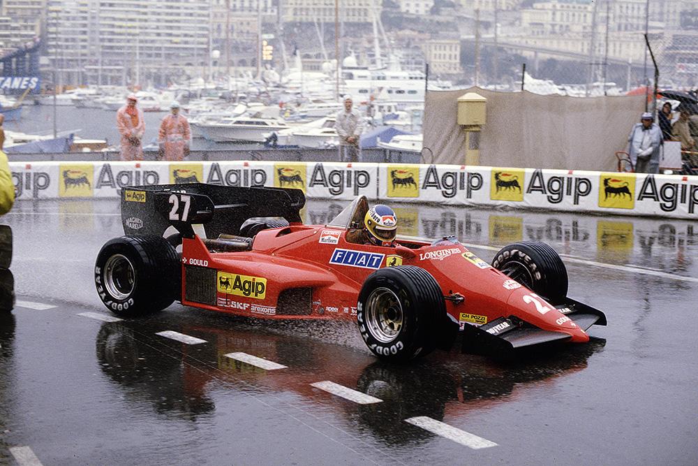 Michele Alboreto driving his Ferrari 126C4.
