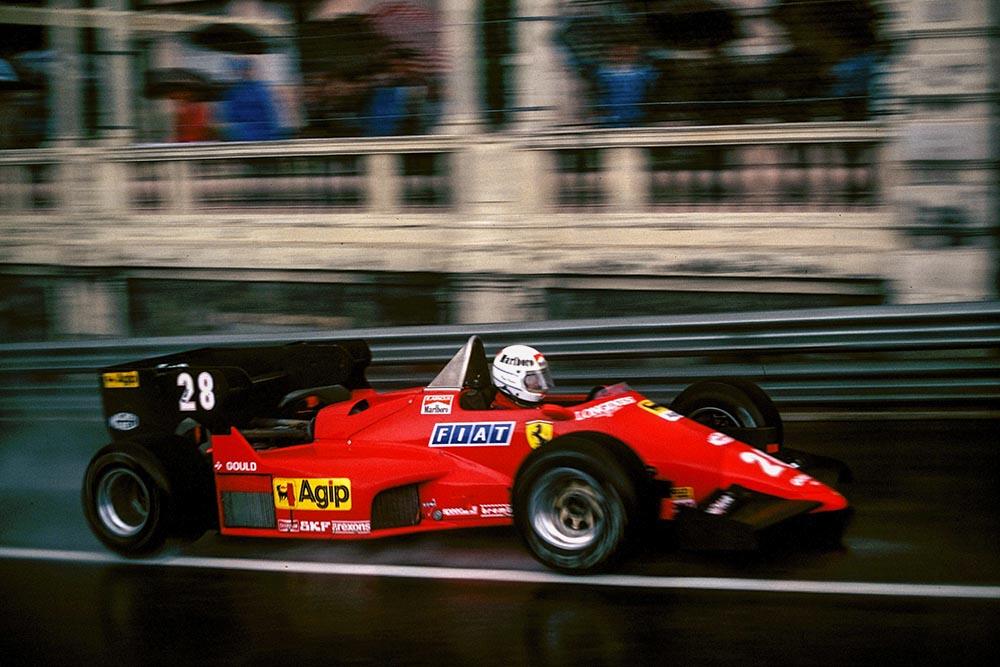 Rene Arnoux in his Ferrari 126C4.