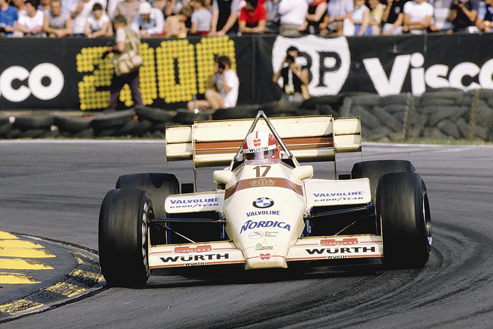 Marc Surer driving his Arrows A7 BMW.