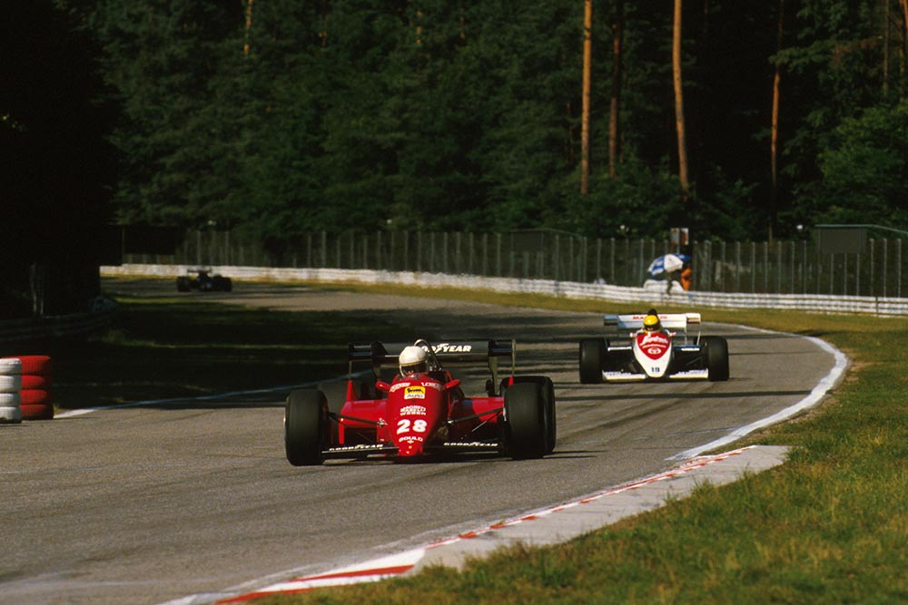 Rene Arnoux driving his Ferrari 126C4.