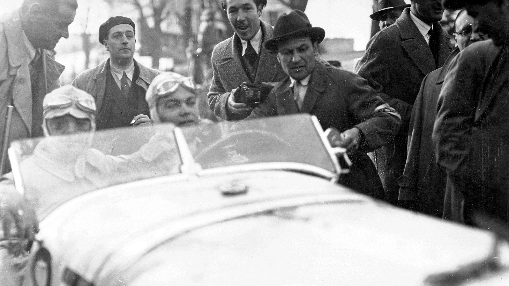 Rudolf Caracciola in the 1931 Mille Miglia