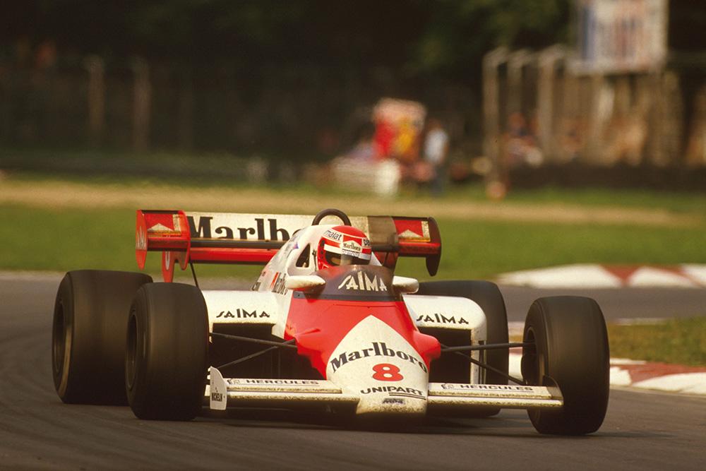 Niki Lauda, in his McLaren MP42 TAG Porsche.