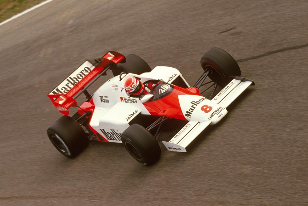 Niki Lauda at Parabolica.