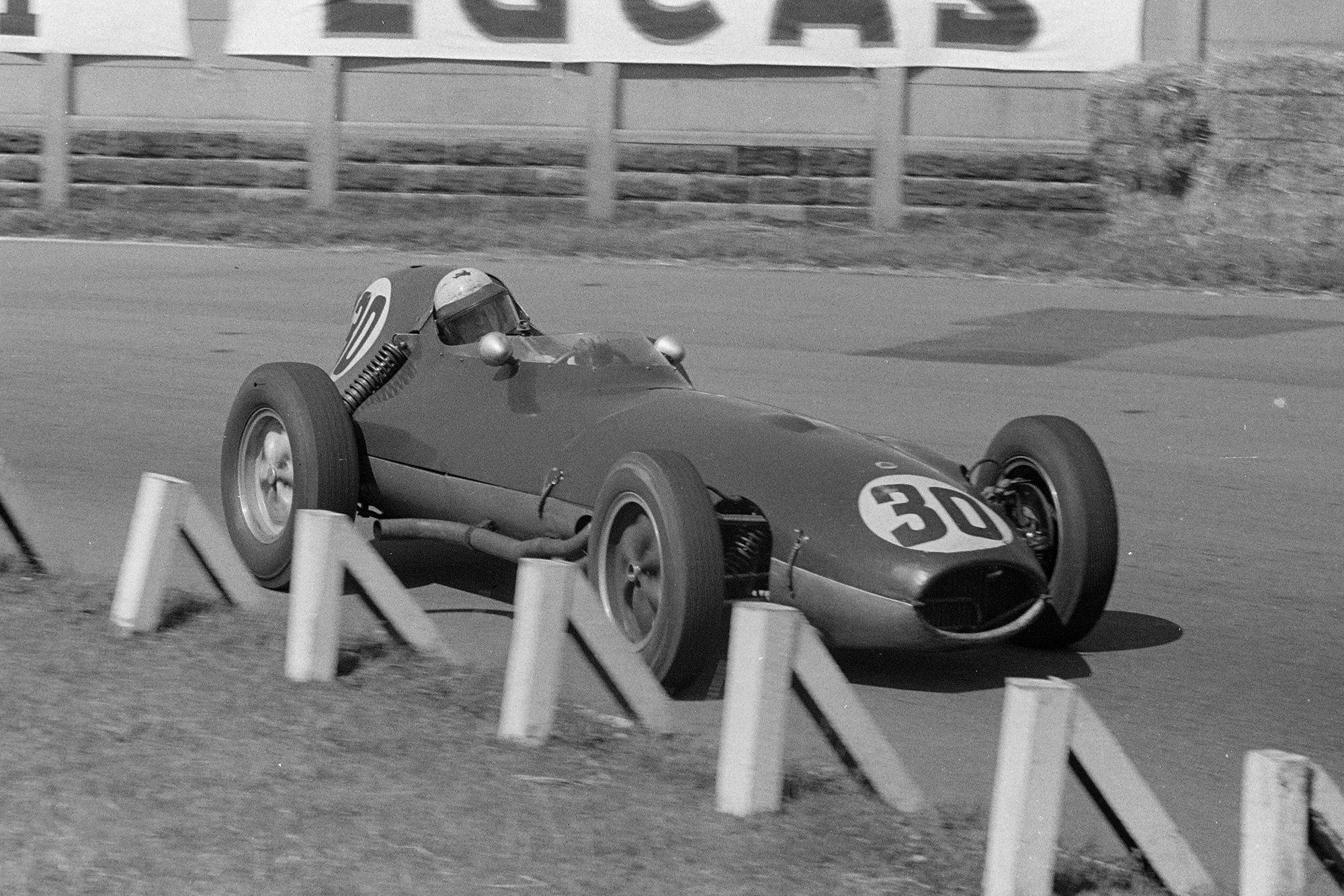 Alan Stacey in a Lotus 16 Climax.