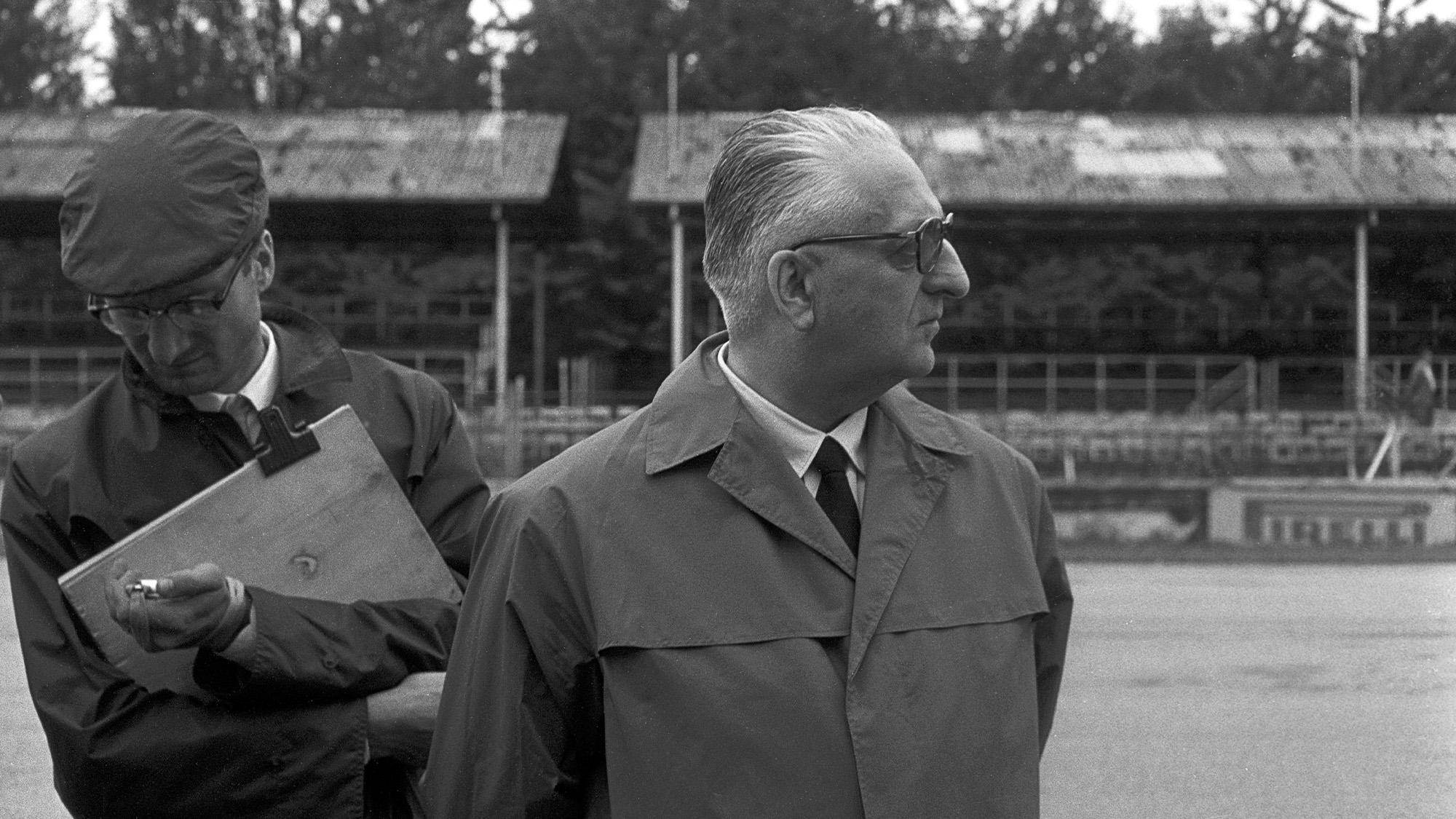Romolo Tavoni with Enzo Ferrari