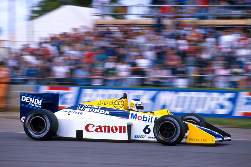 Keke Rosberg (Williams FW10 Honda) who's pole position time was the fastest ever qualifying lap.