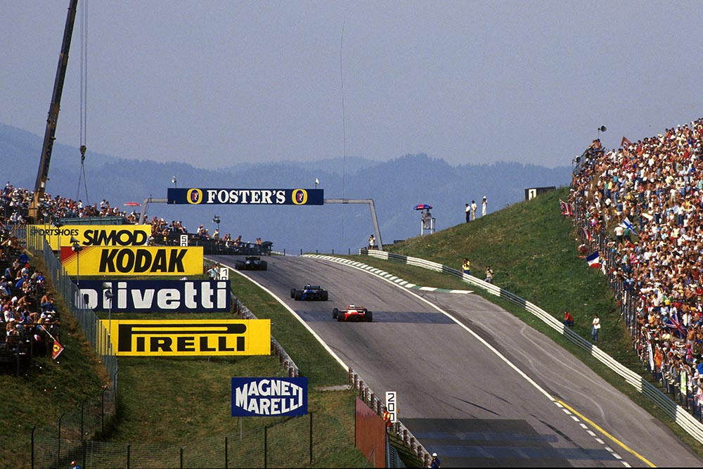 The sights of the Austrian Grand Prix.