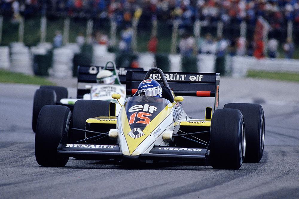 Patrick Tambay driving his Renault RE60B.