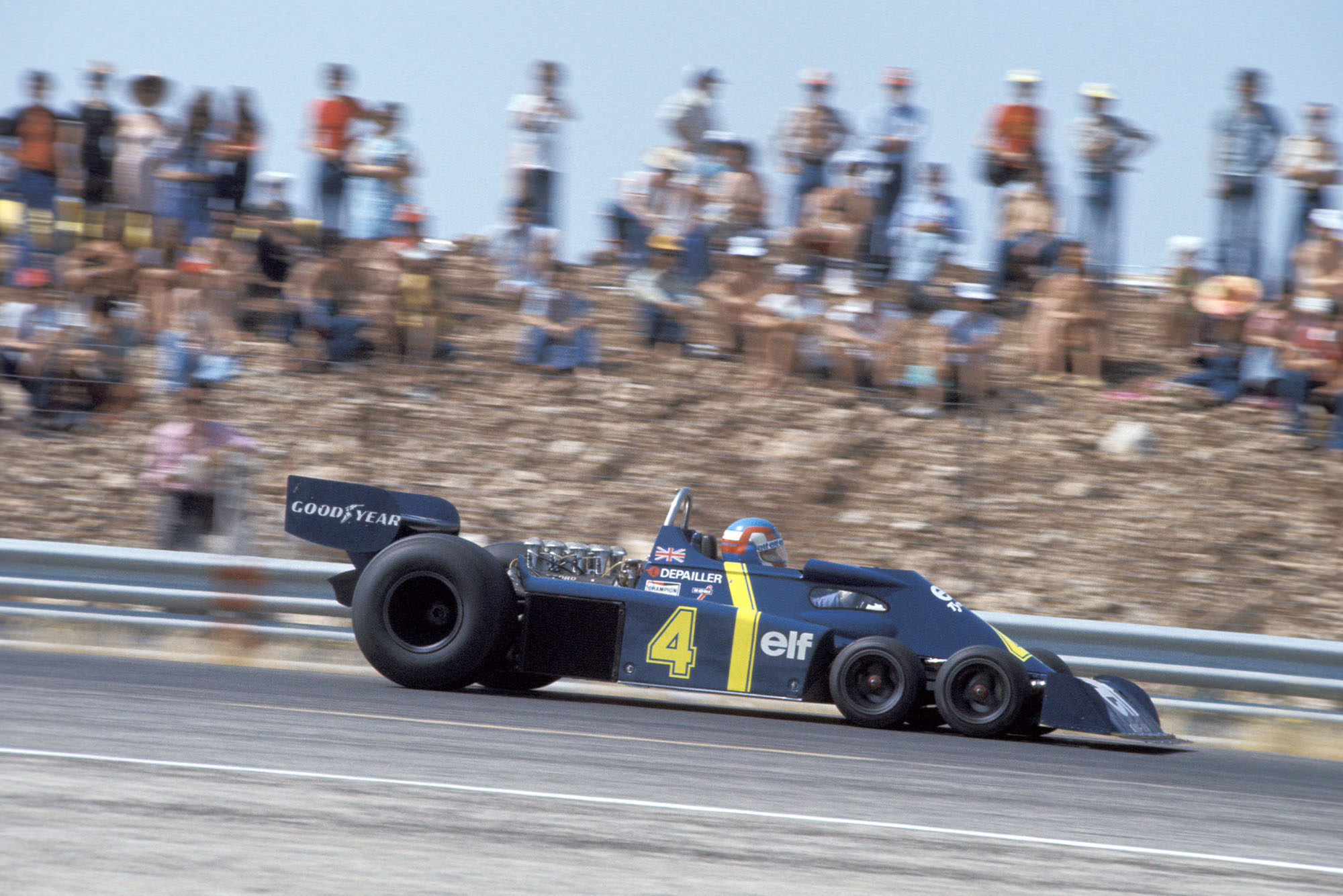 Patrick Depailler driving for Tyrrell at the 1976 French Grand Prix.