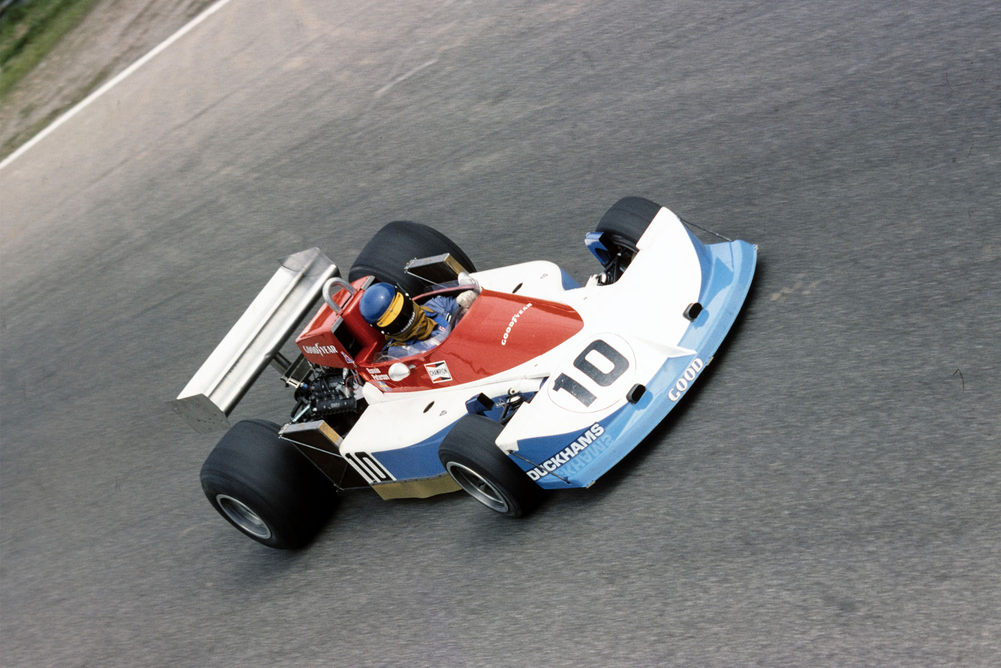 Ronnie Oeterson (March) at the 1976 Italian Grand Prix, Monza.