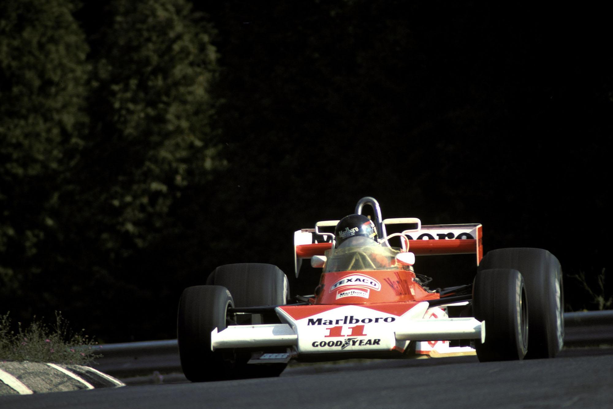 James Hunt (McLaren) at the 1976 Canadian Grand Prix, Mosport Park.