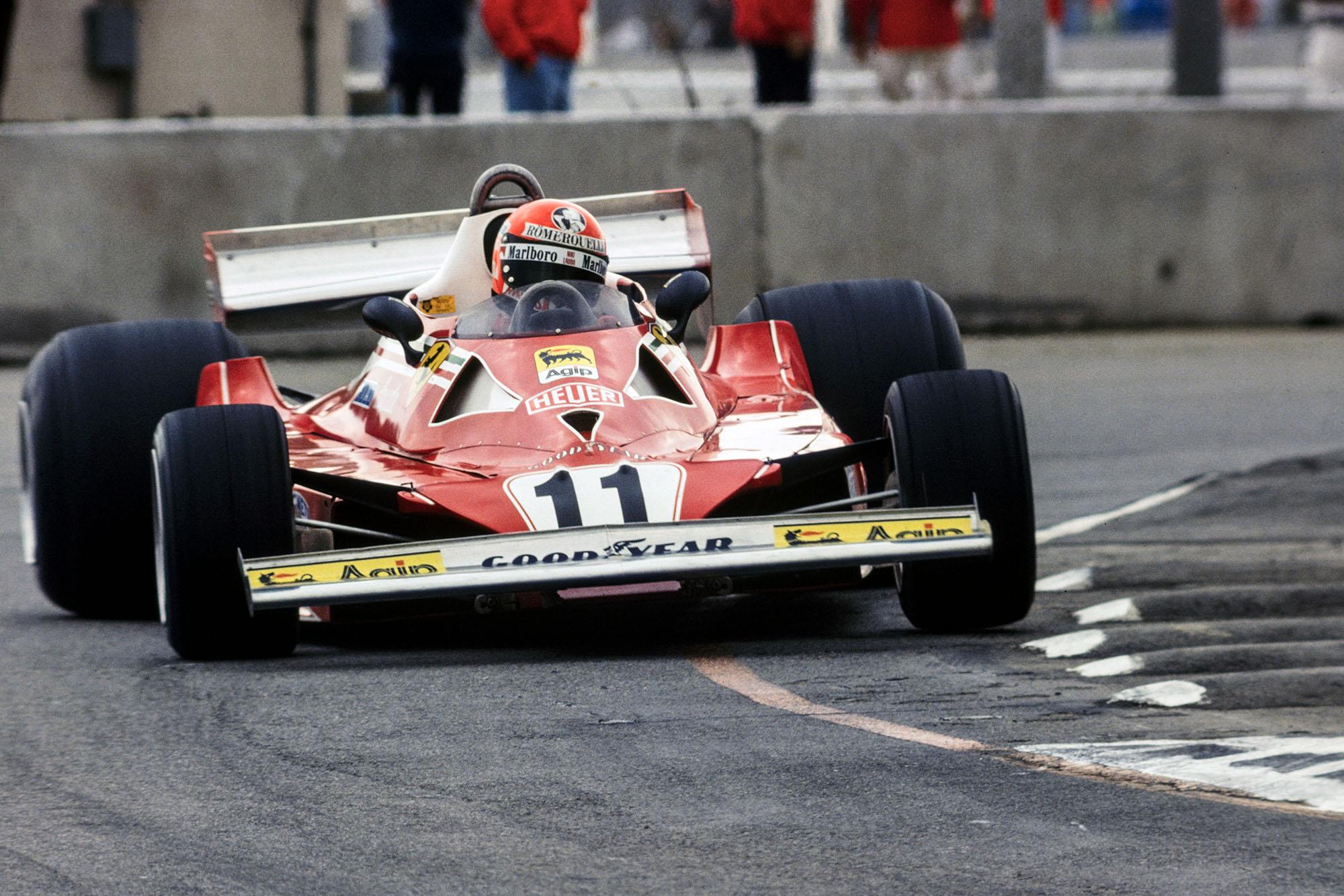 Niki Lauda (Ferrari), United States Grand Prix West, Long Beach.