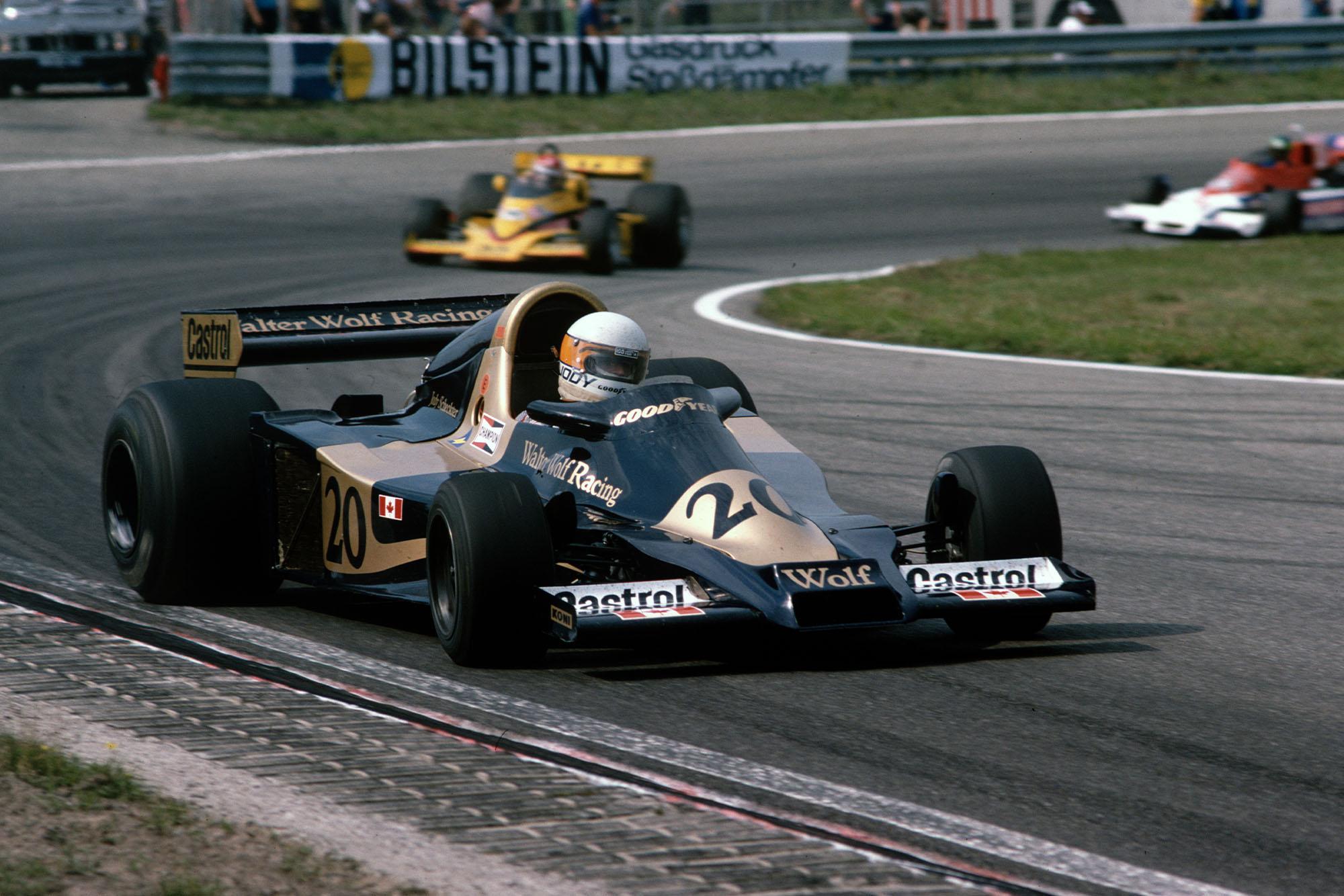 Jody Scheckter (Wolf) during the 1977 Dutch Grand Prix, Zandvoort.