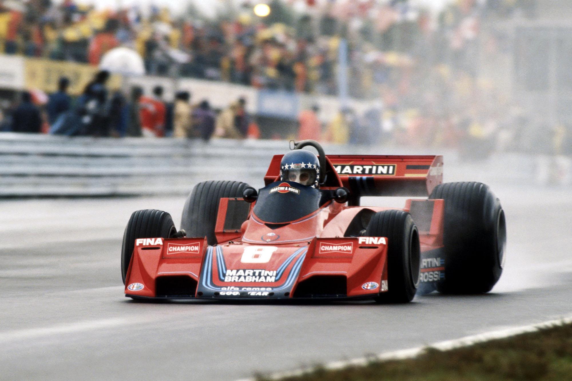 Hans-Joachim Stuck driving for Brabham at the 1977 United States Grand Prix East, Watkins Glen