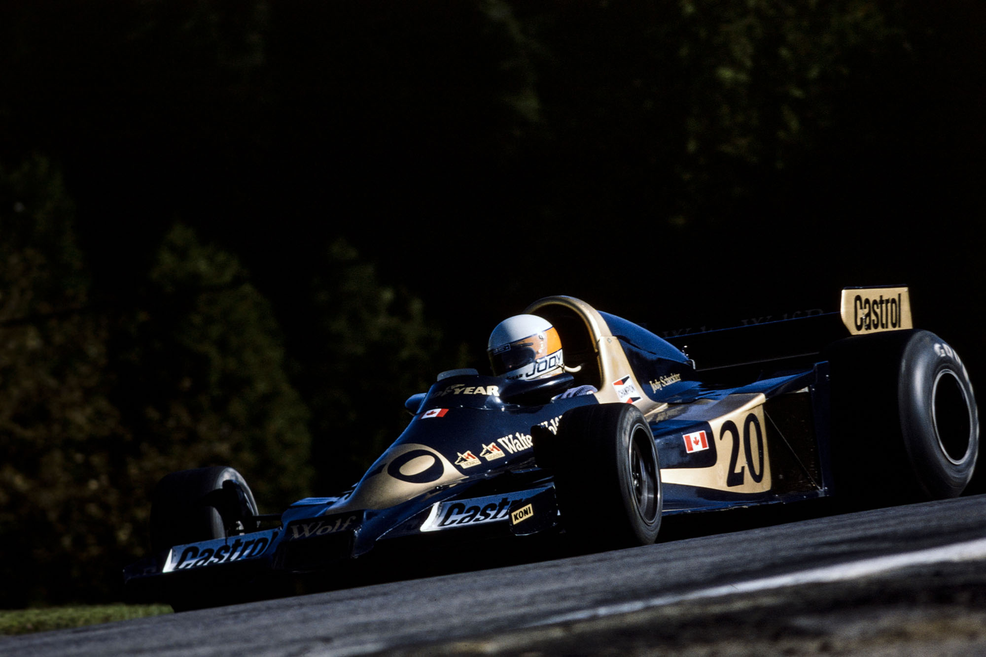 Jody Scheckter (Wold) at the 1977 Canadian Grand Prix, Mosport Park.