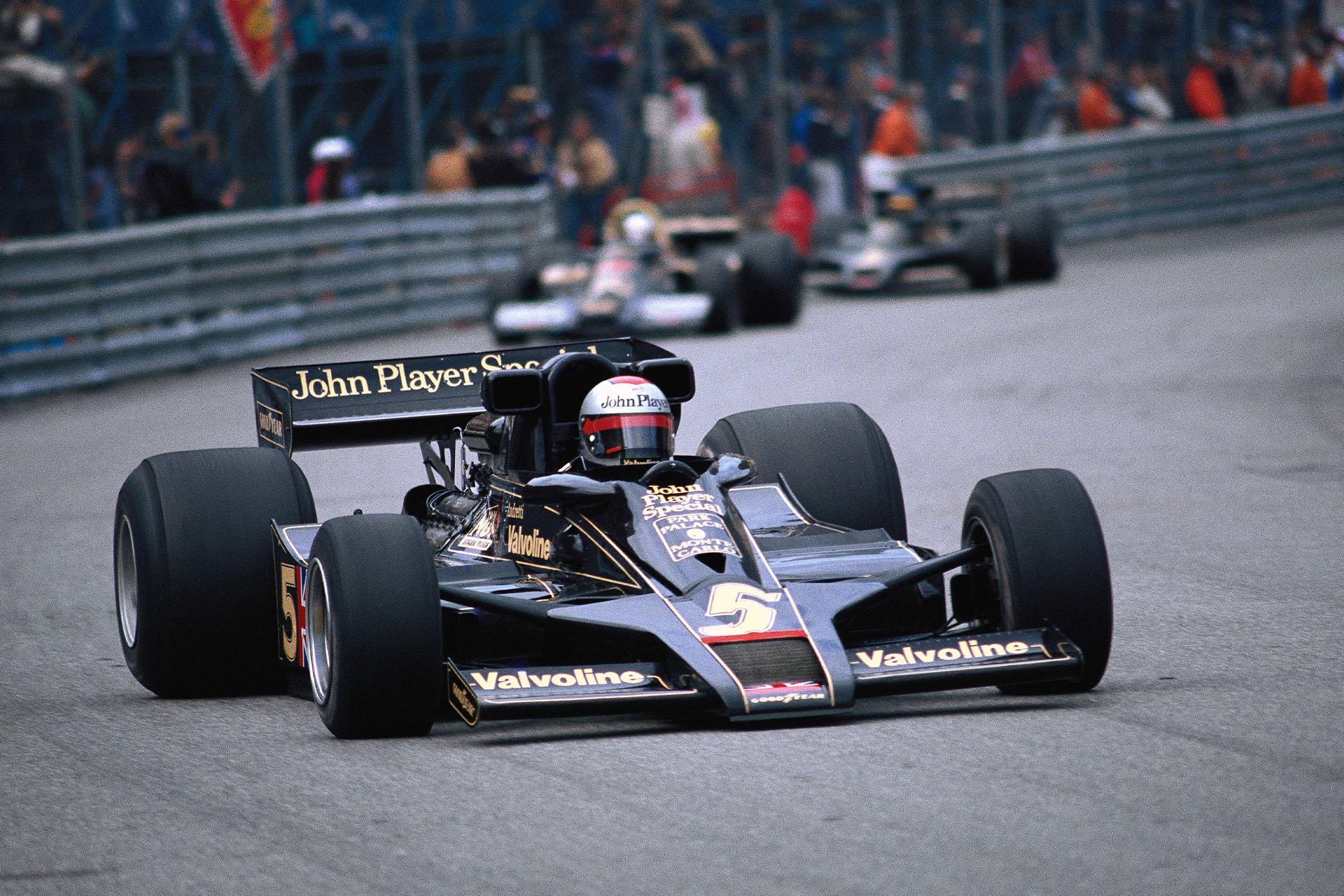Mario Andretti (Lotus) competing at the 1978 Monaco Grand Prix.