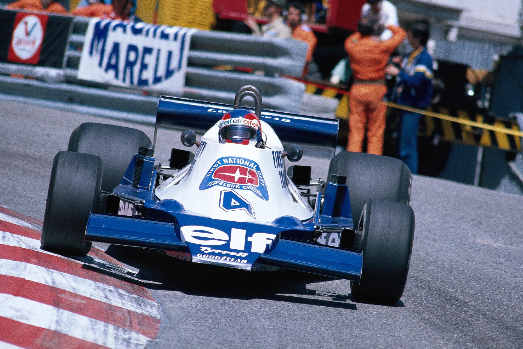 Patrick Depailler (Tyrrell) driving at the 1978 Monaco Grand Prix.