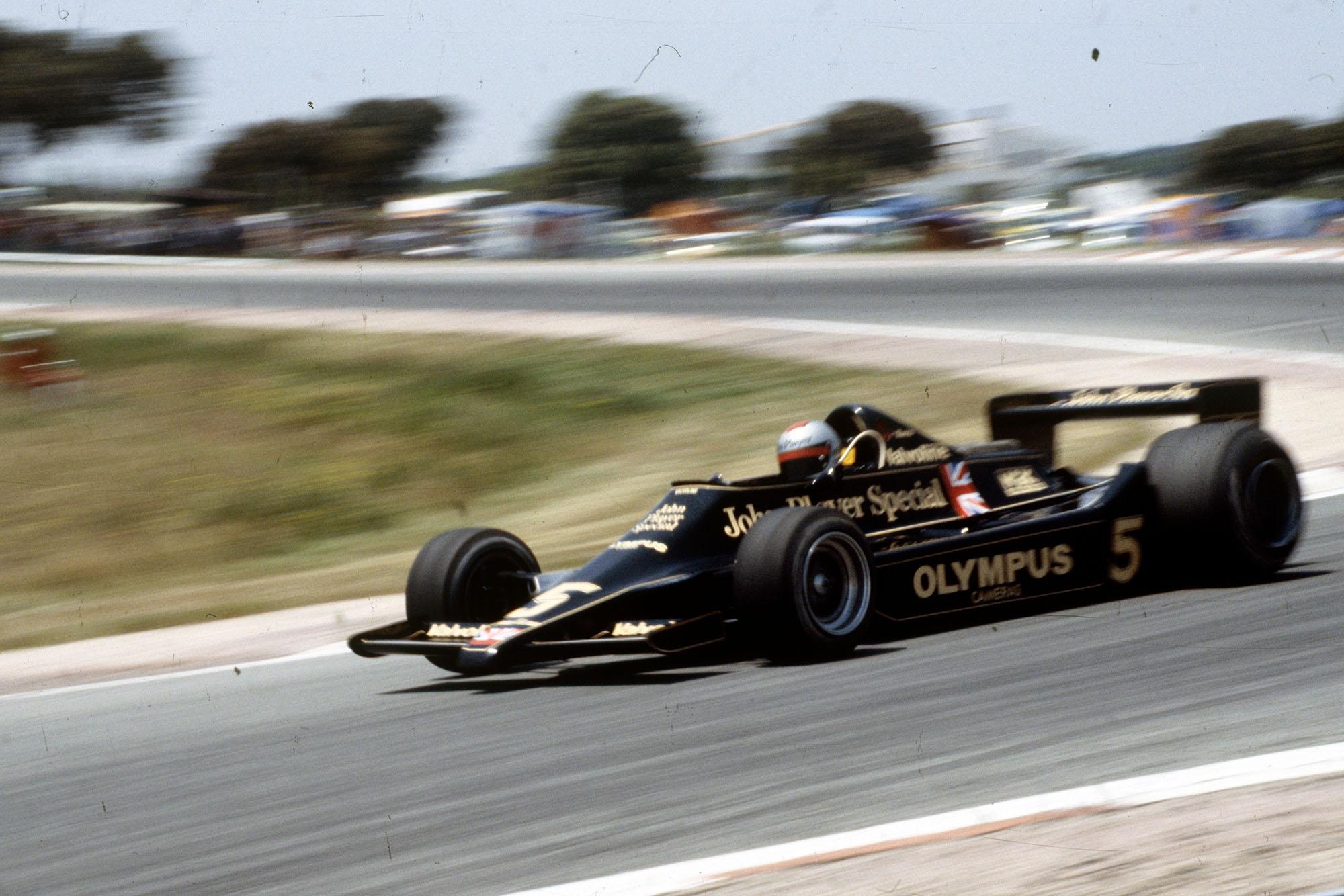 Mario Andretti (Lotus) competing at the 1978 Spanish Grand Prix, Jarama.