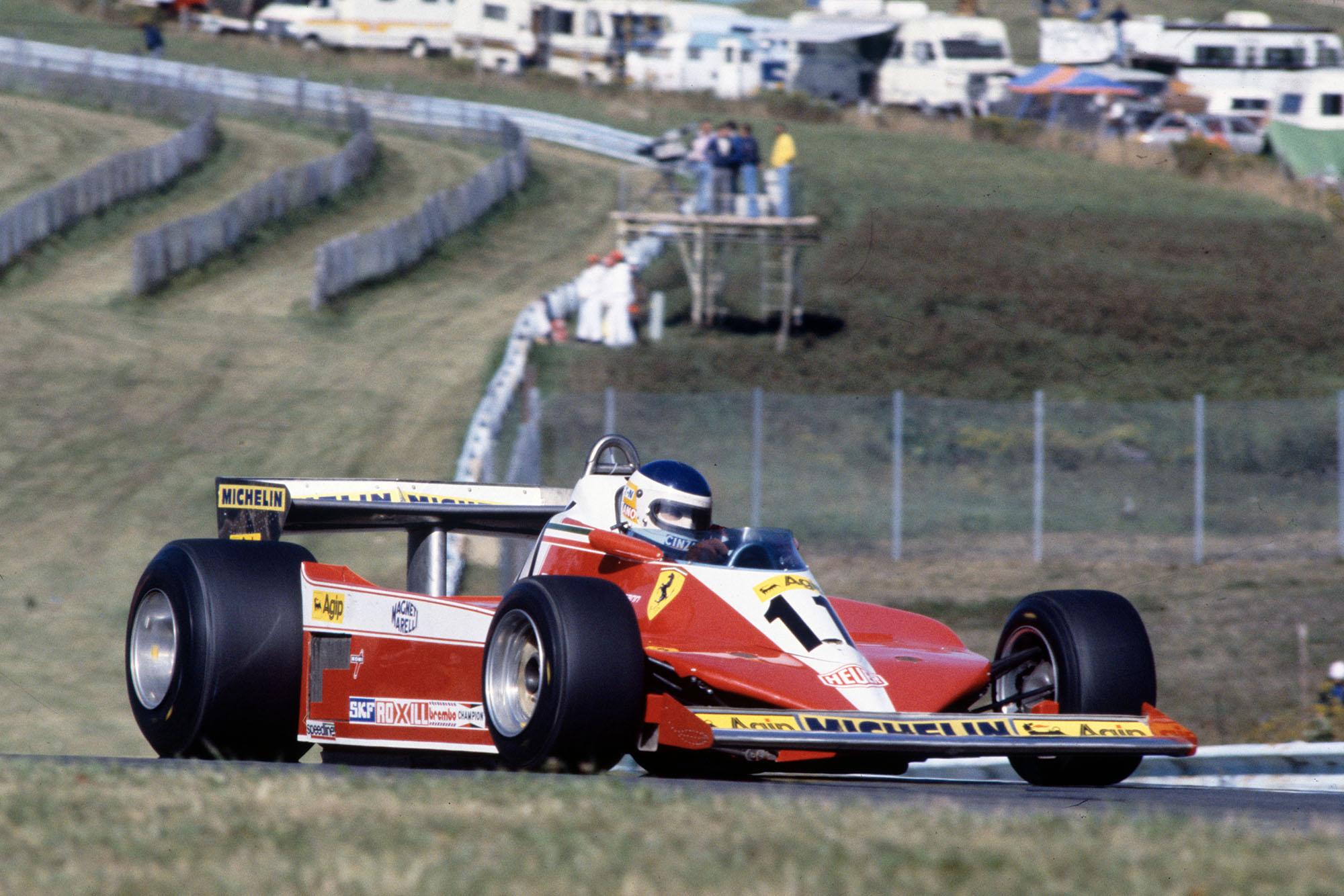 Carlos Reutemann (Ferrari) driving at the 1978 United States Grand Prix East, Watkins Glen.