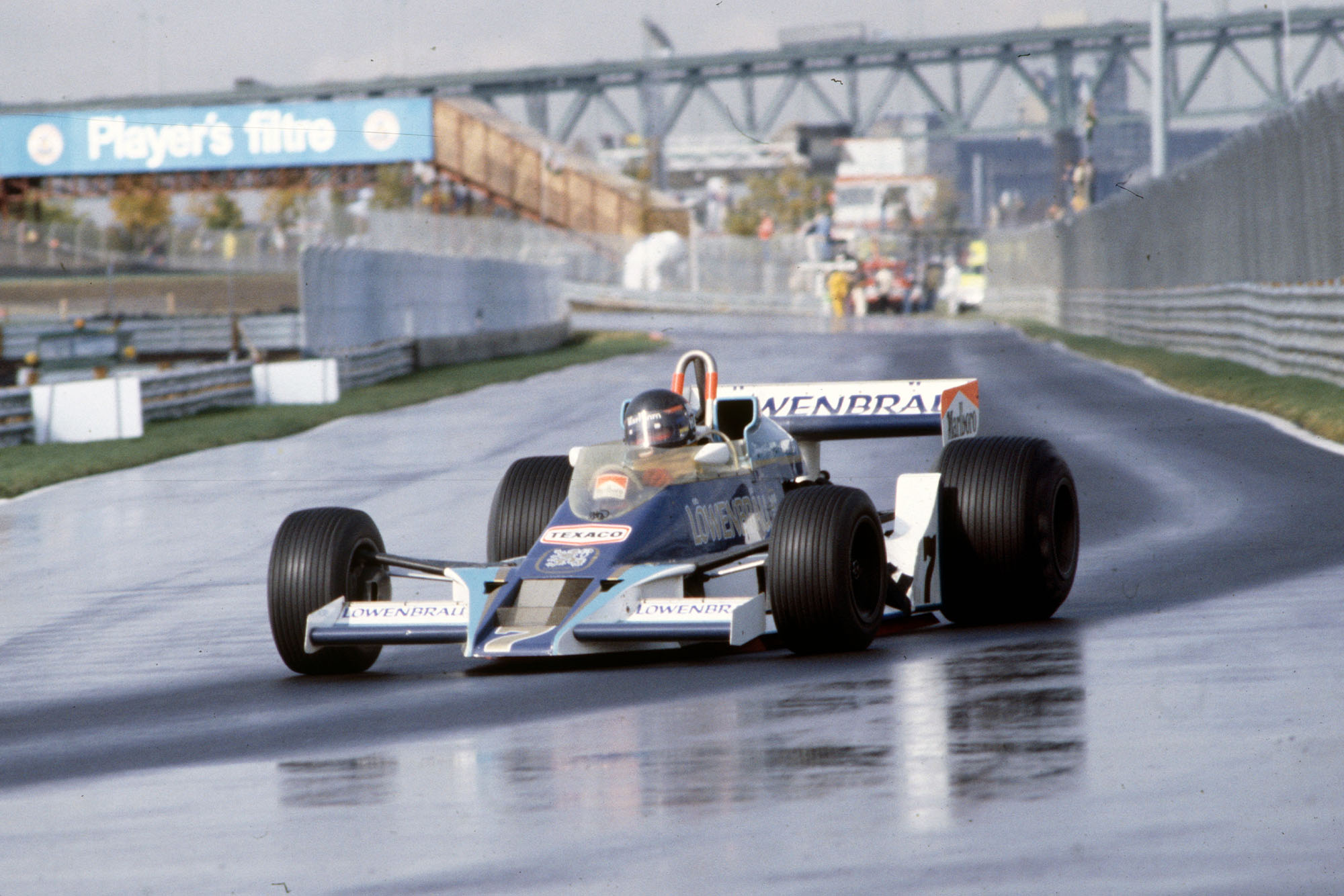 James Hunt (McLaren) running a one-off blue livery at the 1978 Canadian Grand Prix, Montreal.