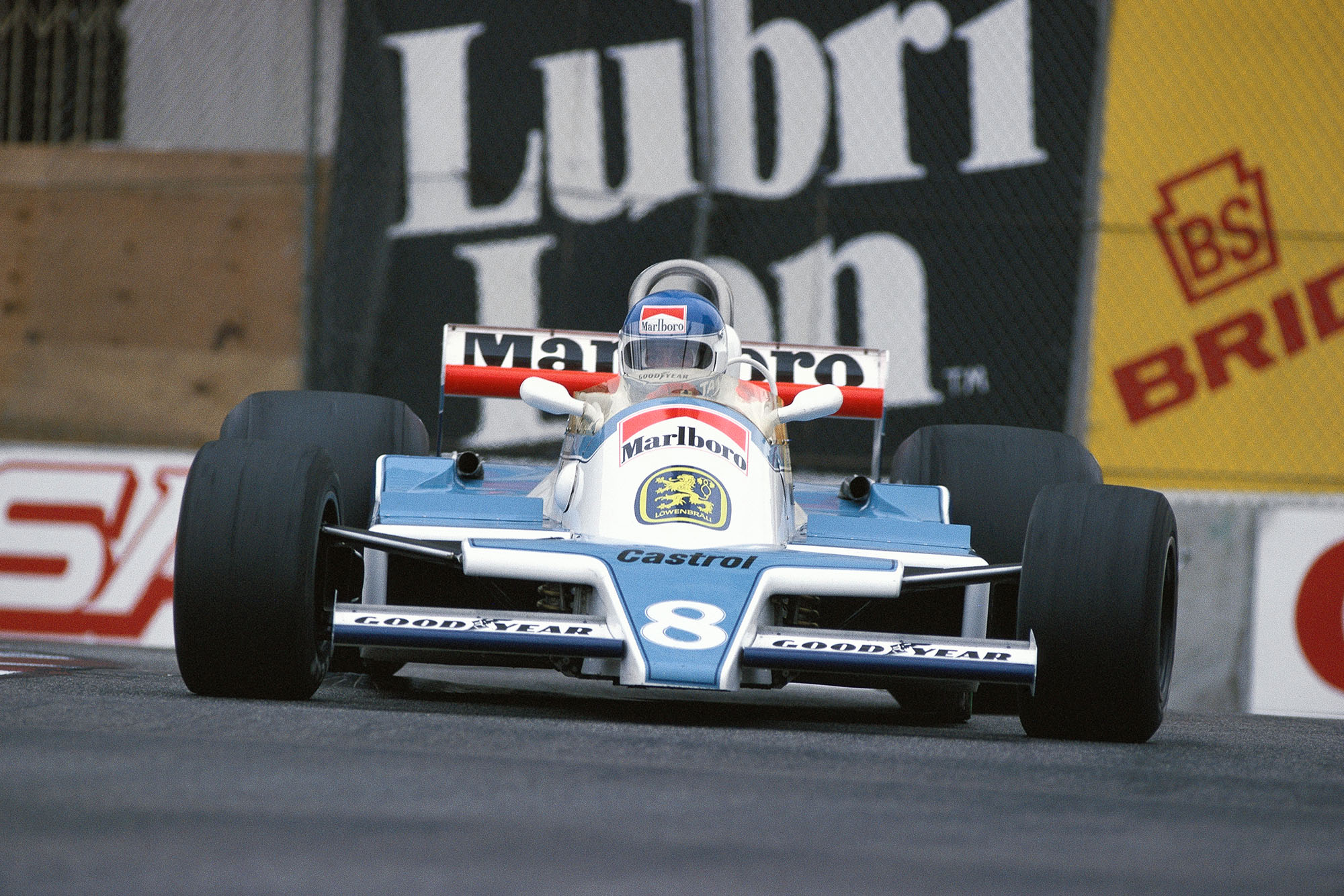 Patrick Tambay driving for McLAren at the 1979 United States Grand Prix, Long Beach.