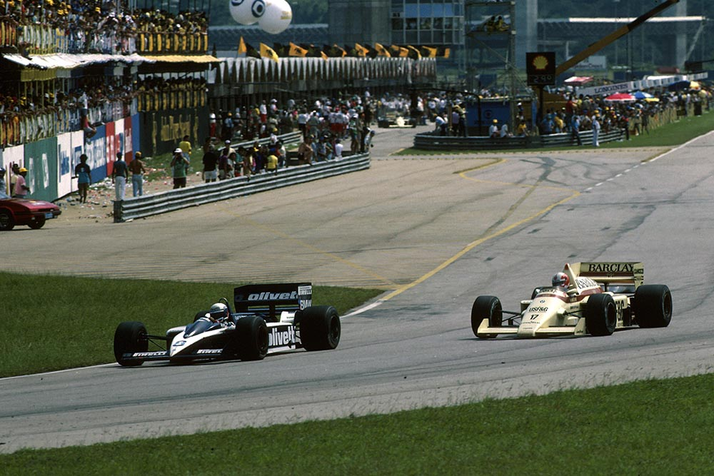 Elio De Angelis in his Brabham BT55.