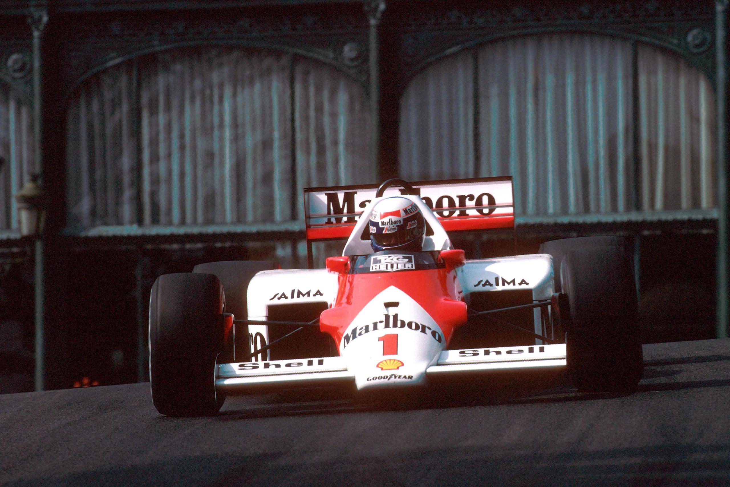 McLaren's Alain Prost took his third consecutive Monaco win