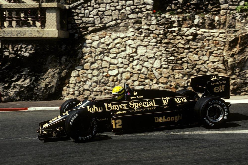 Ayrton Senna Lotus 98T qualified and finished third.